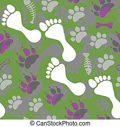 Pattern with footprints