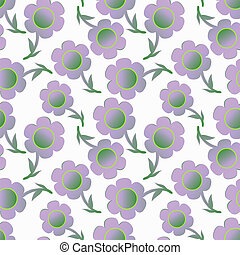 Pattern with gentle lilac flowers