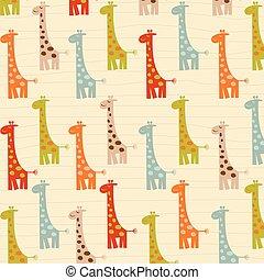 pattern with giraffes