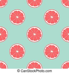 pattern with grapefruit