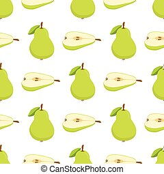 pattern with green pears