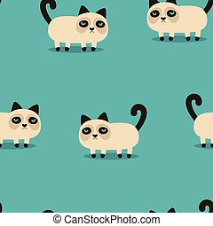 pattern with grumpy cat