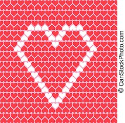 pattern with hearts, love