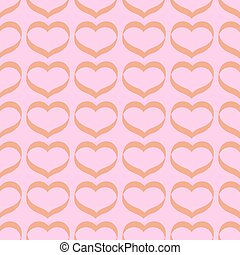 pattern with hearts on a pink background