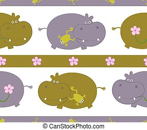 Pattern with hippo