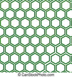 pattern with honeycombs