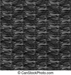 pattern with horizontal white lines on black background