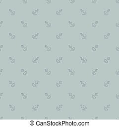 Pattern with incline anchors on blue background