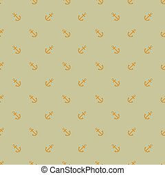 Pattern with incline anchors on cardboard green background