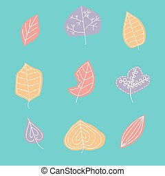 Pattern with leaf,  abstract leaf texture