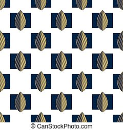 Pattern with leaves on a white background.