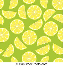 pattern with lemon