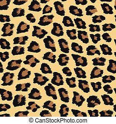 pattern with leopard background