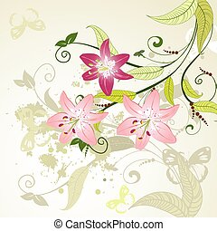 pattern with lilies