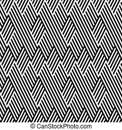 Pattern with line black and white in zigzag