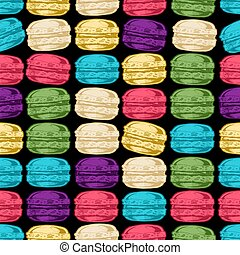 Pattern with macarons