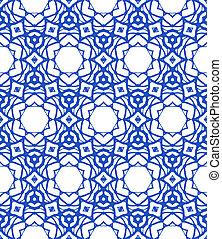 pattern with Mediterranean & Moroccan motifs - Vector...