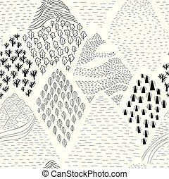 pattern with mountains