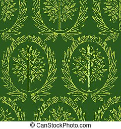 Pattern with natural leafs