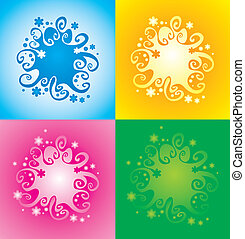 pattern with original spiral structure