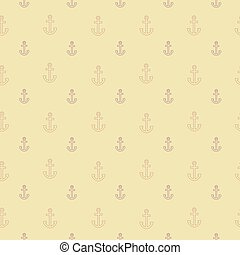 Pattern with outline anchors on sandy background