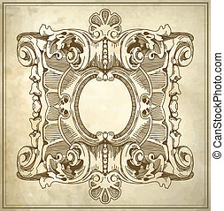 pattern with place for your text - Ornamental floral pattern...