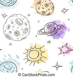 Pattern with planets and stars