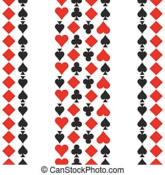 Pattern with playing cards symbols