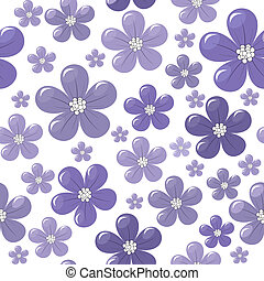 Pattern with purple flowers