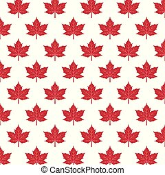 pattern with red maple leaves