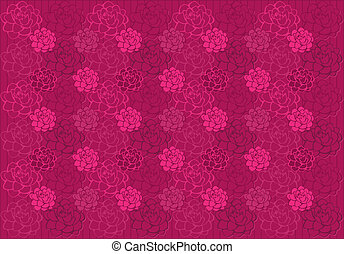 Pattern with roses - Dimensional pattern with stylized roses