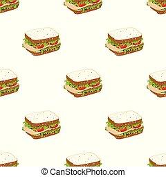 pattern with sandwich