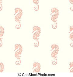 pattern with seahorse