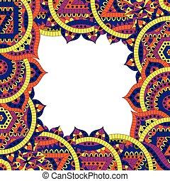 Pattern with seven chakras