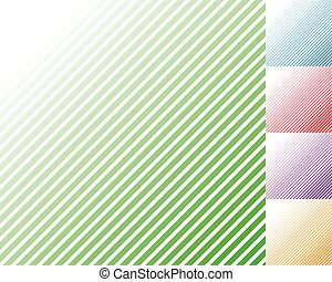 Pattern with slanting, diagonal lines - Straight, parallel oblique lines.
