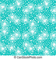 Pattern with small flowers, pompoms or snowflakes