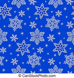 Pattern with snowflake