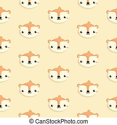 Pattern with squirrel.
