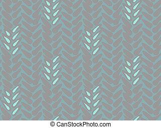 Pattern with stylized wheat and rye plant motifs