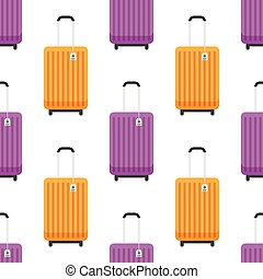 pattern with travel bags