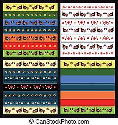 Pattern With Turkeys