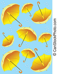 pattern with umbrellas