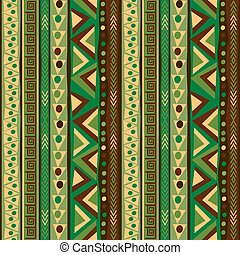 Pattern with vertical ethnic motifs