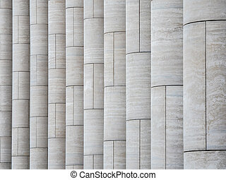 Pattern with vertical light marble columns.