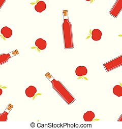 pattern with vinegar - seamless pattern with bottles of...