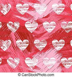 hand drawn hipster seamless pattern of hearts