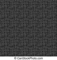 pattern with white outlines on black background