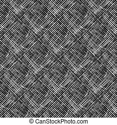 pattern with white shapes on black background