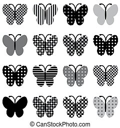 Patterned butterflies set - Set of patterned butterflies