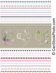 Patterned calligraphic border